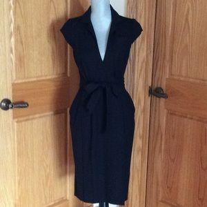 Diane Von Furstenberg Wraparound Black Dress.